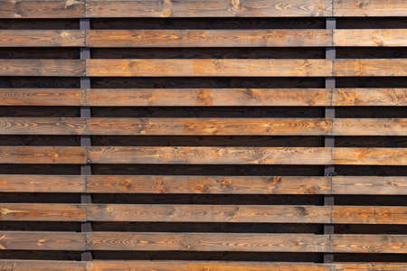 Wooden slats. Natural wood lath line arrange pattern texture background 版權商用圖片