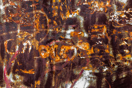 Rusty metal grunge background. Rusted steel tin abstract pattern.