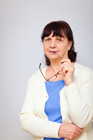 Portrait of good looking senior woman Stock Photo