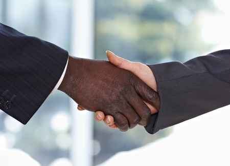 African American businessman shaking hands with businesswoman Stock Photo - 9067851