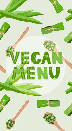 Vegan menu vector design template Stock Vector - 133056104