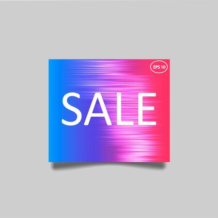 Modern vector Sale banner with violet gradient and speed motion lines background