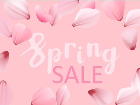 Spring sale cherry blossom vector banner template 일러스트