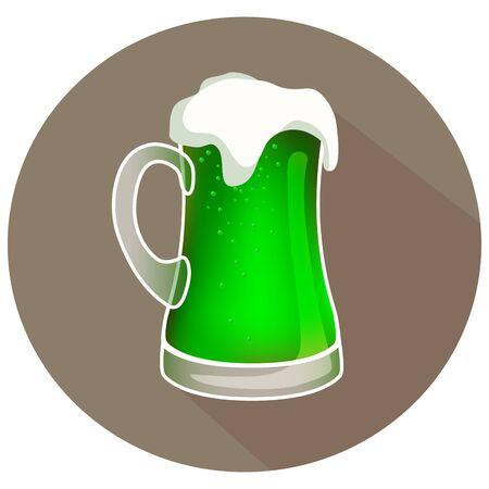 Hand drawn vector green beer, st.patricks day