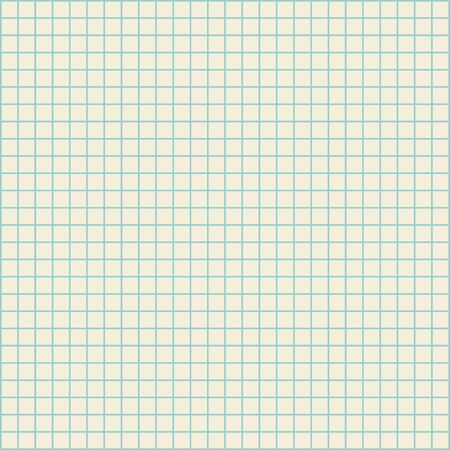 Blank checked copy book pattern for math practice, seamless vector texture Ilustrace