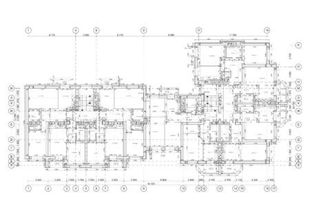 Detailed architectural floor plan, apartment layout, blueprint. Vector illustration