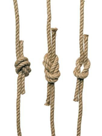 hanf: Die Knoten auf dem wei�en Hintergrund (isoliert).