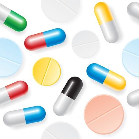 Medication seamless background. Illustration