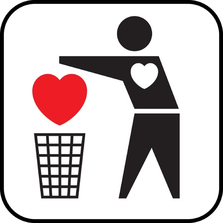 Heartless (conceptual icon). Vector