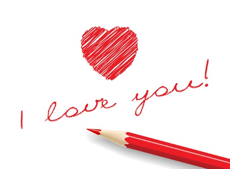 I love you! (Message). Vector