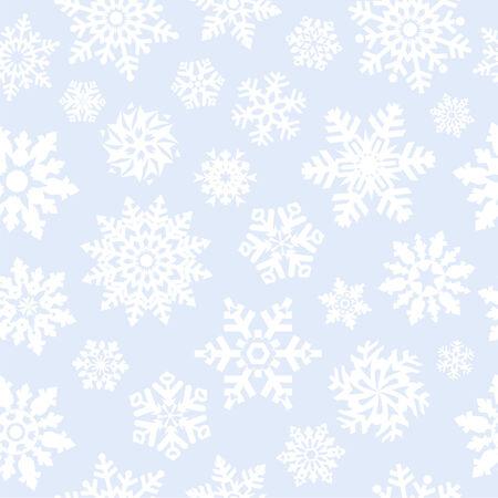 neige qui tombe: Les flocons de neige sans soudure de fond. Illustration