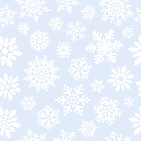 Snowflakes seamless background. Vector