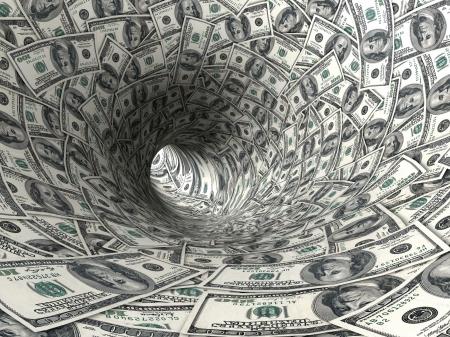 effondrement: Dollars entonnoir.