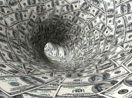 달러: Dollars funnel.