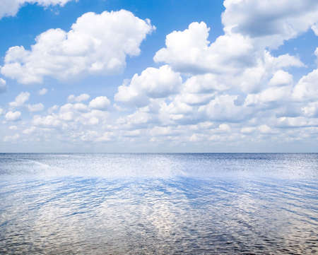 Sea landscape with blue sky and white clouds. Stock Photo - 4982122