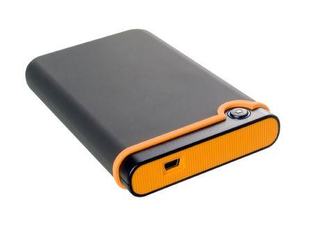 external hard disk drive: External hard disk drive on white background