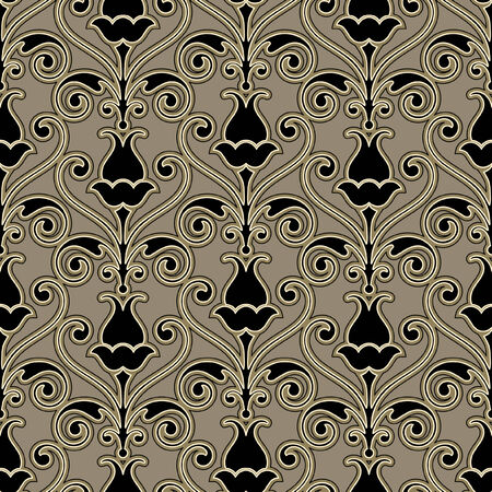 replicate: Vector floral pattern for continuous replicate.