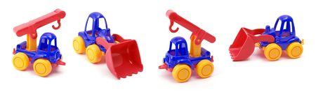 Toys on white background. photo
