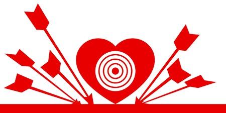 sehnsucht: Herz: neben der Marke (allegorische Symbol).  Illustration