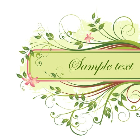 Floral banner. Stock Vector - 5639635