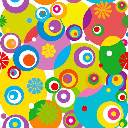 Abstract circle seamless pattern. Vector