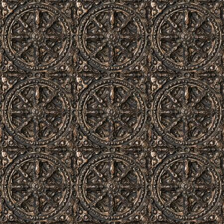 Bronze seamless decorative pattern. photo