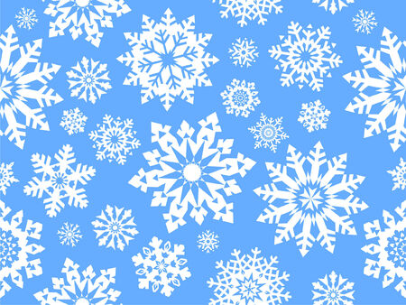 Snowflake seamless pattern. Vector