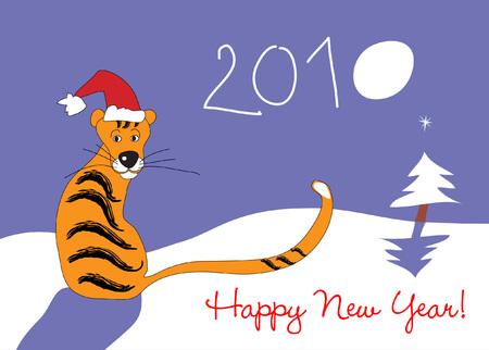 Happy New Year 2010 Stock Vector - 5883895