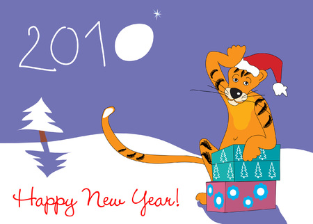 Happy New Year 2010 ! Stock Vector - 5883896