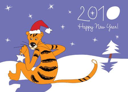 Christmas card. Stock Vector - 5883894