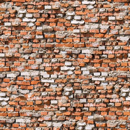Red brickwork seamless background. photo