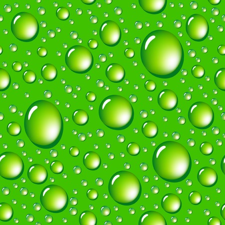 Water drops seamless background. Vector