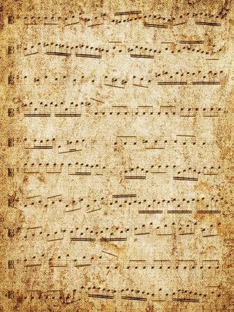 music notation: Music-paper texture background. Stock Photo