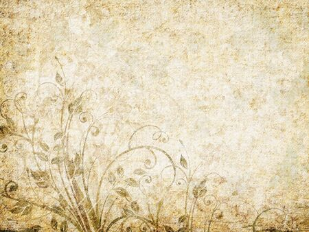 Vintage abstract floral background. Stock Photo - 5966946