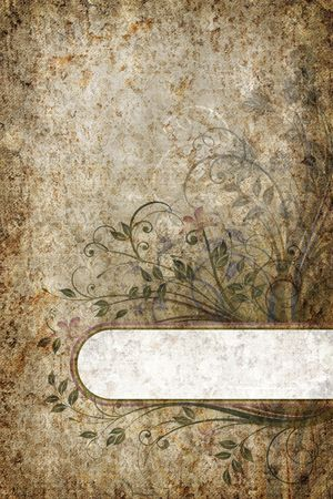 Vintage abstract floral banner. photo