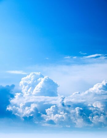 conglomeration: Clouds on blue sky.