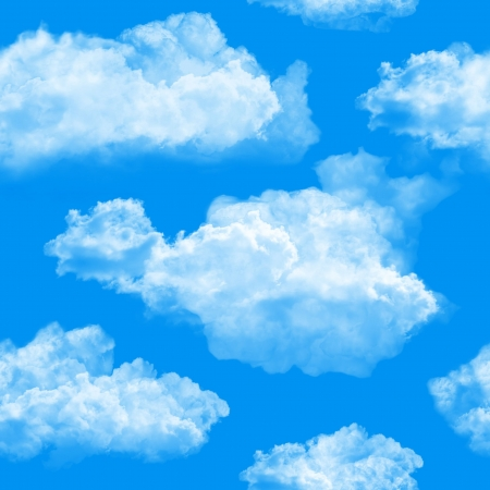 Clouds seamless background.