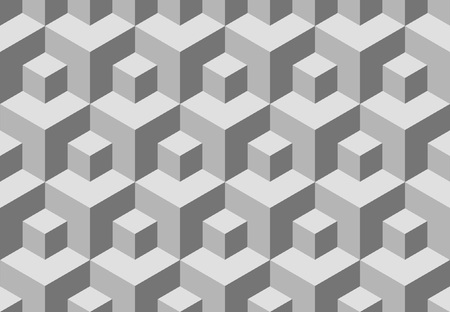 replicate: Seamless cubes background. Vector pattern for continuous replicate.