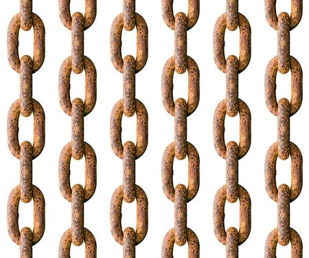 replicate: Rusted chain seamless backdrop - pattern for continuous replicate.
