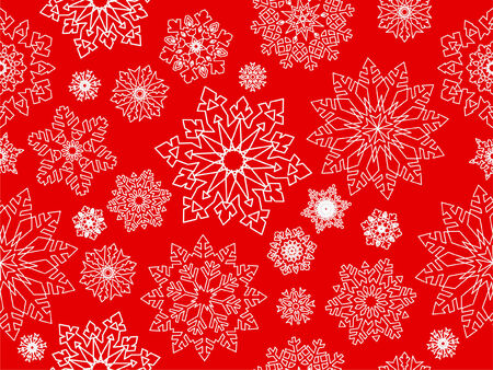 Snowflake seamless background. Stock Vector - 6113221