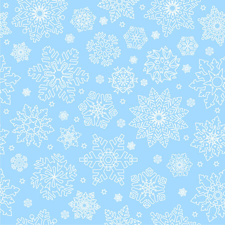 Snowflake seamless pattern. See more seamless patterns in my portfolio. Stock Vector - 6113214
