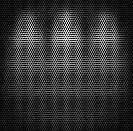 Metal net monochromatic texture background. photo