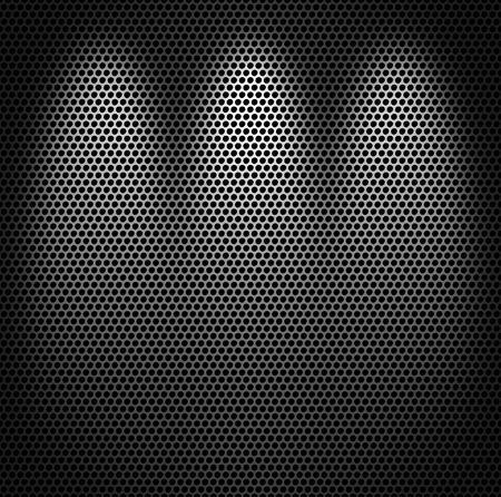 grid: Sfondo trama monocromatico netto in metallo. Archivio Fotografico