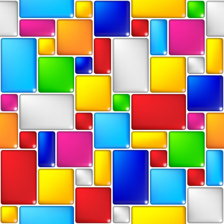 Multicolored mosaic seamless background Stock Vector - 6136358