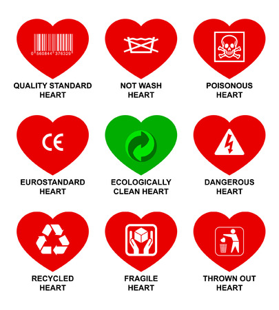 Icons standard hearts. Vector