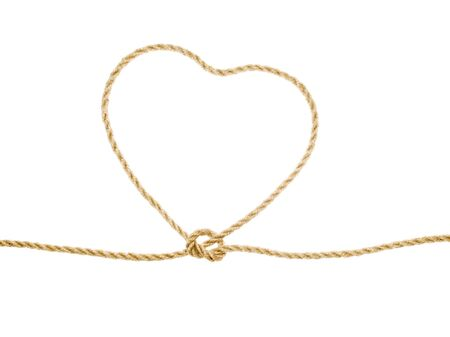 entrap: Heart as lasso on white background (isolated). Stock Photo