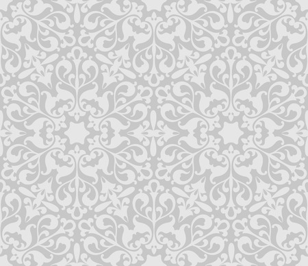 seamless damask: Seamless pattern for continuous replicate.