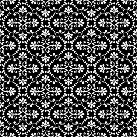 white silk: Seamless floral pattern. Illustration