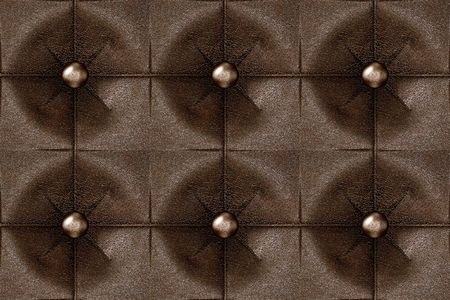 Seamless luxury buttoned brown leather pattern. photo