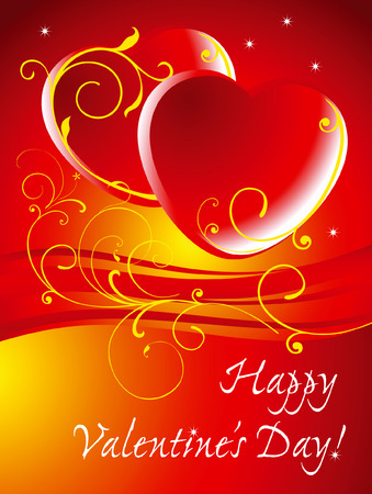 Card background for Valentines day. Vector